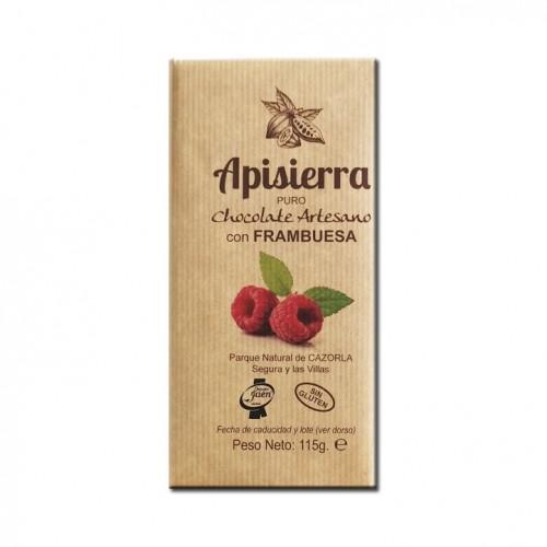 Tableta Chocolate Artesano con Frambuesa 115gr