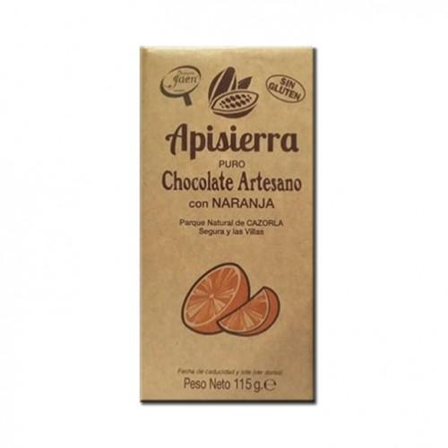 Tableta Chocolate Artesano con Naranja 115gr