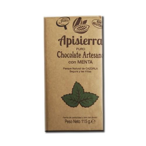 Tableta Chocolate Artesano con Menta 115gr
