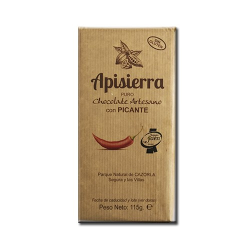 Tableta Chocolate Artesano con Picante 115gr