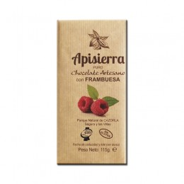 Tableta Chocolate Artesano con Frambuesa 115gr