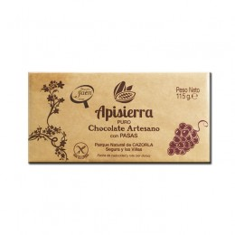 Tableta Chocolate Artesano con Pasas 115gr