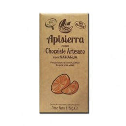 Tableta Chocolate Artesano con Naranja 115gr