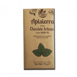 Tableta Chocolate Artesano con Menta 115gr
