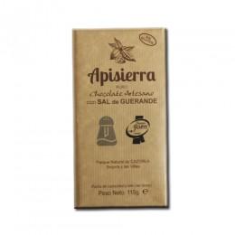 Tableta Chocolate Artesano con Sal de Guerande 115gr