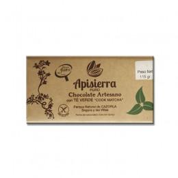 "Tableta Chocolate Artesano con Té Verde ""COOK MATCHA"" 115gr"
